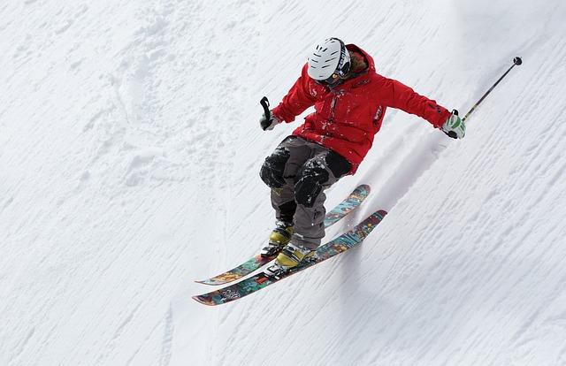 zima sport narty